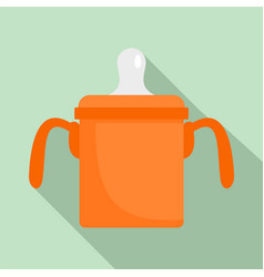 baby sippy cup icon flat style vector image