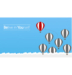 Belive in yourself and dare to be yourself take vector