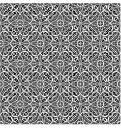 Black and white lace pattern vector