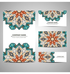 Business colorful card template vector image