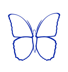 butterfly art vector image