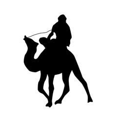 Camel silhouette black vector