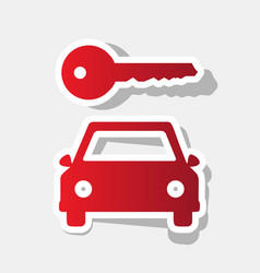 car key simplistic sign new year reddish vector image