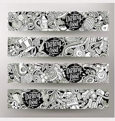 cartoon graphics hand drawn doodles diet vector image