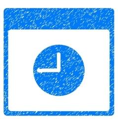 Clock Calendar Page Grainy Texture Icon vector image