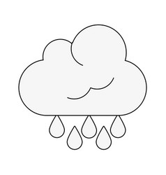 cloud weather symbol vector image