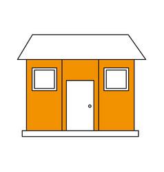 Color silhouette image facade comfortable house vector