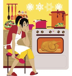 Cooking for holidays vector image