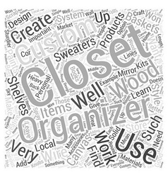 Creating a Custom Closet Organizer Word Cloud vector