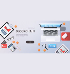 crypto currency block chain concept bitcoin mining vector image