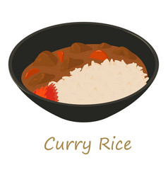 Curry rise icon cartoon style vector