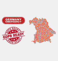 Disaster and emergency collage germany map and vector