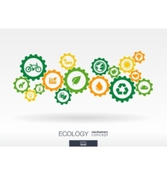 Ecology mechanism concept Abstract background vector image