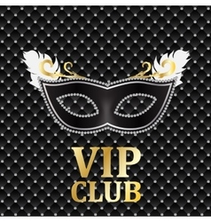 Elegant Dark VIP Card vector image