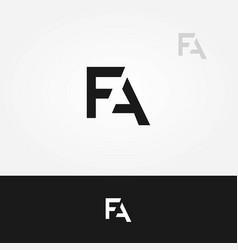 fa letters logo vector image