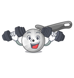 Fitness pizza cutter knife cartoon for cutting vector