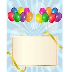 greeting sign with balloons vector image