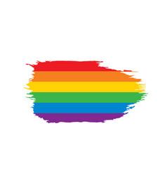 grunge rainbow flag vector image