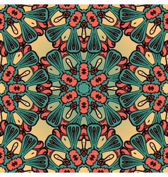 Hand drawn vintage seamless mandala background vector image