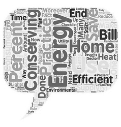 Home energy ll text background wordcloud concept vector