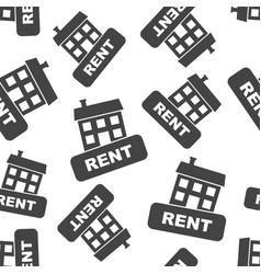 House for rent seamless pattern background vector