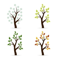 icon four seasons vector image