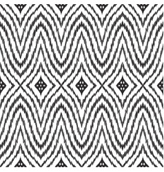 Ikat seamless pattern vector