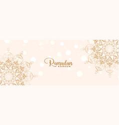 islamic mandala decorative ramadan kareem or eid vector image