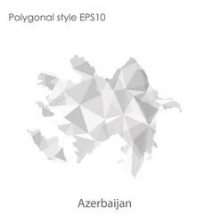isolated icon azerbaijan map polygonal vector image
