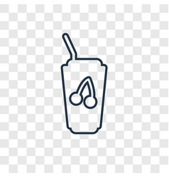 juice concept linear icon isolated on transparent vector image