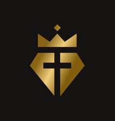 king diamond christian symbol vector image