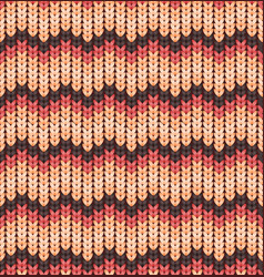 knitter seamless pattern with stripes and zigzag vector image
