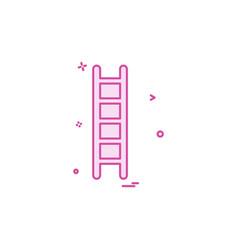 ladder icon design vector image