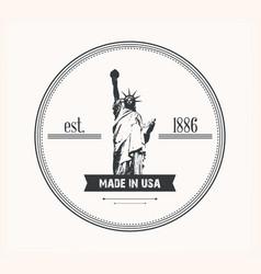 Liberty statue logo vector