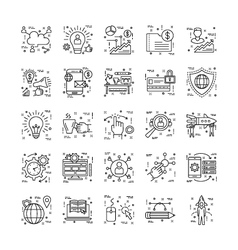 Line Icons With Detail 9 vector image