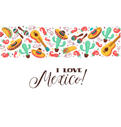 Love mexico poster vector