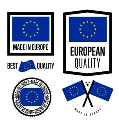Made in Europe label set vector image
