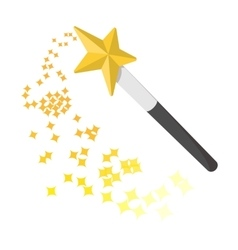 Magic wand cartoon icon vector