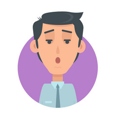 Man face emotive icon in flat style vector