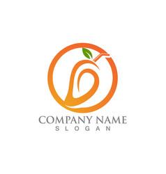 Mango logo and icon fruit template vector