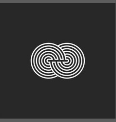 maze logo design element infinity symbol linear vector image