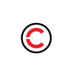 Minimalist letter c logo and icon design vector