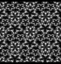 monochrome floral vintage seamless pattern vector image