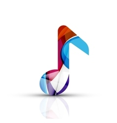 Music note logo vector image