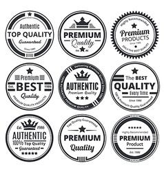 Nine Scalable Vintage Badges vector image