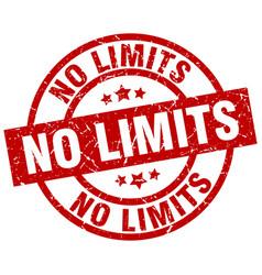 no limits round red grunge stamp vector image