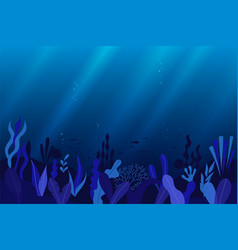 ocean sea underwater background vector image