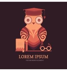 Owl in a graduation cap vector image