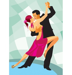 Pair of dancers in ballroom dance vector image vector image