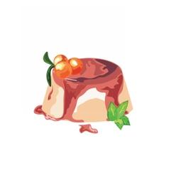 Panna cotta dessert vector